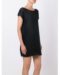 Issey Miyake Cauliflower - Black Pleated Mini Dress - Lyst