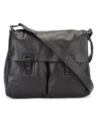 Orciani - Black Pocket Detail Messenger Bag for Men - Lyst