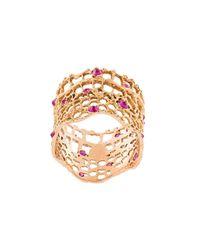 Aurelie Bidermann | Metallic 'vintage Lace' Ruby Ring | Lyst