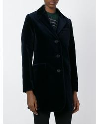 Aspesi - Blue Flap Pockets Short Coat - Lyst