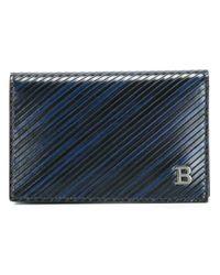 Bally - Blue Flap Wallet - Lyst