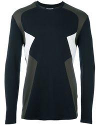 Neil Barrett | Blue Colour Block Long Sleeve T-shirt for Men | Lyst