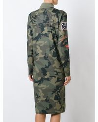 Gcds - Green Branded Camouflage Dress - Lyst