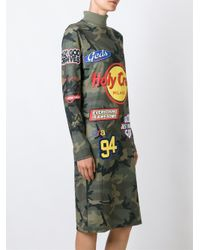 Gcds | Green Branded Camouflage Dress | Lyst