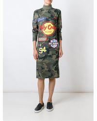 Gcds - Green Branded Camouflage Dress - Lyst
