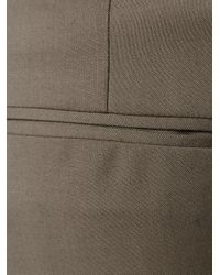 Etro - Gray Cropped Tailored Trousers - Lyst