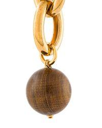 Marni - Metallic Oversized Chain Clip-on Earrings - Lyst