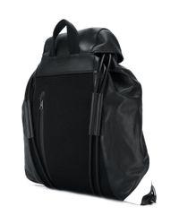 Neil Barrett - Black 'retro Modernist' Drawstring Backpack for Men - Lyst