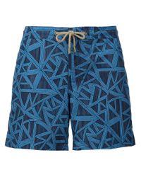 Thorsun - Black 'shatter' Swim Shorts for Men - Lyst