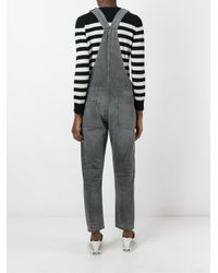 Citizens of Humanity | Gray Tapered Trouser Overalls | Lyst