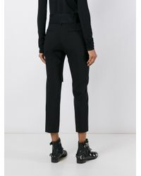 Faith Connexion | Black - Cropped Tailored Trousers - Women - Cotton/polyamide/spandex/elastane/virgin Wool - 38 | Lyst