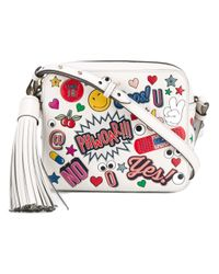 Anya Hindmarch   Multicolor - All-over Sticker Crossbody Bag - Women - Calf Leather/leather/suede - One Size   Lyst