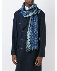 Missoni   Blue Zig-zag Knit Scarf for Men   Lyst