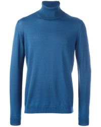 Roberto Collina | Blue Turtleneck Jumper for Men | Lyst