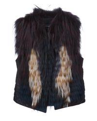 Yigal Azrouël   Black Contrast Sleeveless Jacket   Lyst
