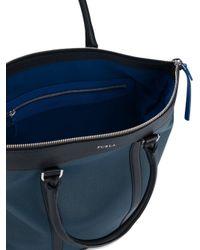 Furla - Blue 'dorado' Tote Bag - Lyst