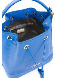 Ferragamo - Blue Gancini Bucket Tote - Lyst