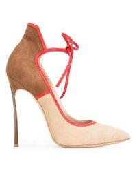 Casadei | Brown Tie Detail Pumps | Lyst