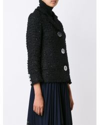 Simone Rocha - Black Floral Motif Buttons Jacket - Lyst
