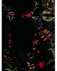 Roberto Cavalli - Black Velvet Flared Trousers - Lyst