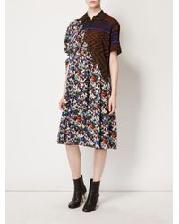 Maison Margiela | White Contrast Print Shirt Dress | Lyst