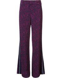 10 Crosby Derek Lam - Blue Pyjama Style Trousers - Lyst