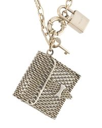 Ermanno Scervino | Metallic Micro-bag Charm Necklace | Lyst