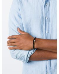 Luis Morais | Black 'lozenge&barrel' Bracelet for Men | Lyst
