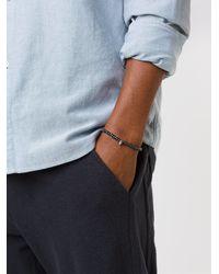 Luis Morais   Black Glass Bead And Silver-tone Bracelet for Men   Lyst