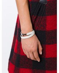 Saint Laurent - White 'monogram' Double Wrap Bracelet - Lyst