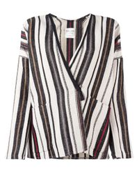 Forte Forte | White Multi Striped Jacket | Lyst