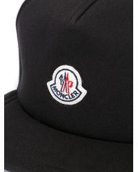 Moncler - Black Logo Plaque Hat for Men - Lyst