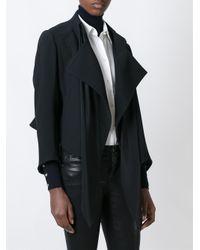 Chloé - Black Chloé Draped Silk and Cotton-blend Jacket - Lyst