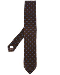 Lardini | Brown Spotted Print Neck Tie for Men | Lyst