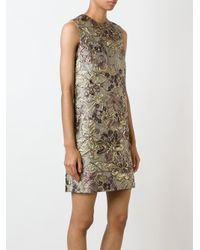 Dolce & Gabbana - Multicolor Floral Jacquard Shift Dress - Lyst