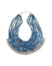 Night Market | Blue Short Multi Strand Necklace | Lyst