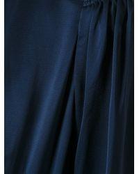 Lanvin - Blue Long Flared Dress - Lyst