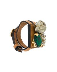Marni - Brown Strass Bracelet - Lyst