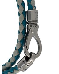 Tod's - Gray Braided Wrap Bracelet for Men - Lyst