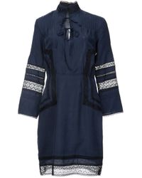 10 Crosby Derek Lam - Blue Lace Panel Dress - Lyst