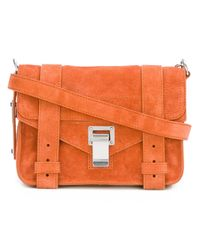 Proenza Schouler - Multicolor Ps1 Large Leather and Jacquard Satchel - Lyst