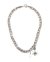 Alexander McQueen | Metallic Multi Chain Necklace | Lyst