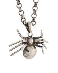 Alexander McQueen - Metallic Spider Pendant Necklace - Lyst