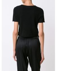 ThePerfext - Black 'doheny' Knitted Top - Lyst