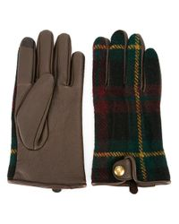 Polo Ralph Lauren | Brown Checked Gloves for Men | Lyst