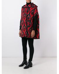 M Missoni - Red Double Breasted Coat - Lyst