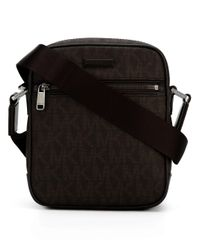 Michael Kors | Brown Jet Set Small Logo Flight Bag for Men | Lyst
