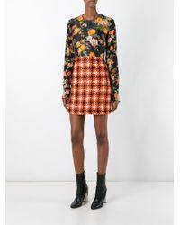 MSGM - Multicolor Silk & Plaid Dress - Lyst