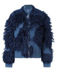3.1 Phillip Lim | Blue Faux Fur Bouclé Jacket | Lyst