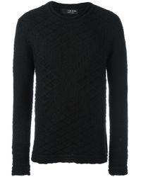 Tom Rebl | Black Geometric Pattern Knit Sweater for Men | Lyst